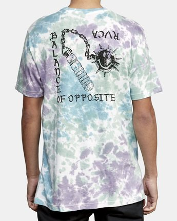 4 Morning Star Tie Dye T-Shirt Grey M446WRMO RVCA