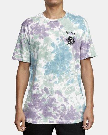 2 Morning Star Tie Dye T-Shirt Grey M446WRMO RVCA