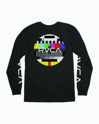 1 TESTING LONG SLEEVE T-SHIRT Black M4511RTE RVCA