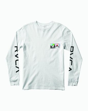 0 TESTING LONG SLEEVE T-SHIRT White M4511RTE RVCA