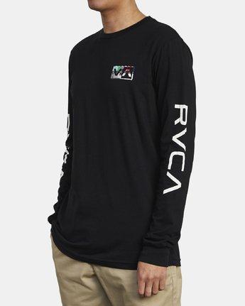 5 TESTING LONG SLEEVE T-SHIRT Black M4511RTE RVCA