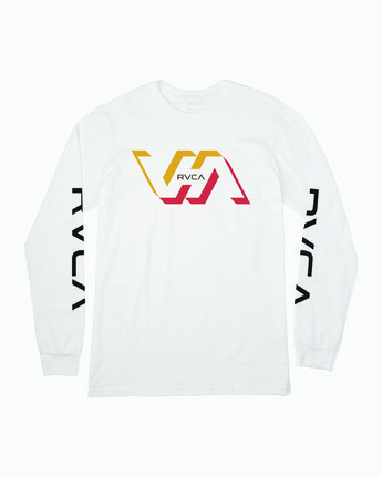 1 FACETS LONG SLEEVE TEE White M4513RFA RVCA