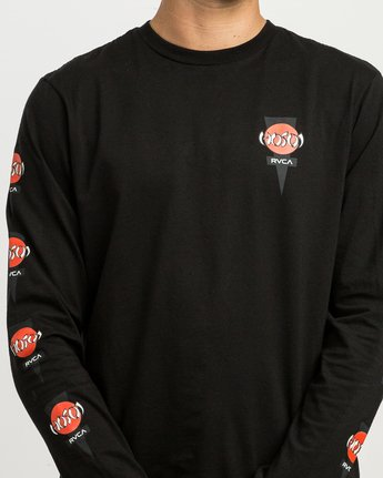 5 Christian Hosoi Long Sleeve T-Shirt  M451SRHS RVCA