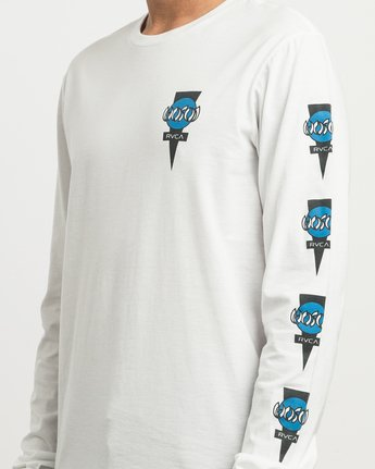 5 Christian Hosoi Long Sleeve T-Shirt White M451SRHS RVCA