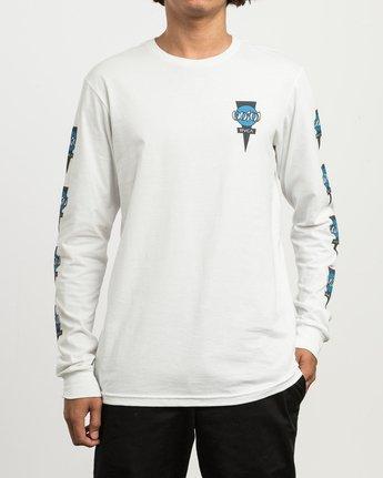 2 Christian Hosoi Long Sleeve T-Shirt White M451SRHS RVCA