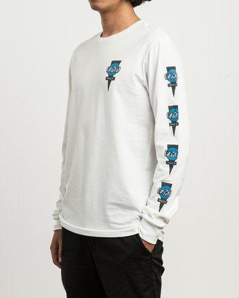 3 Christian Hosoi Long Sleeve T-Shirt White M451SRHS RVCA