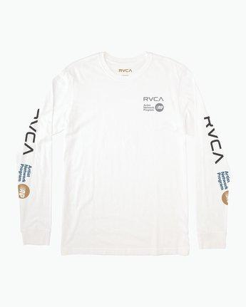 0 RVCA ANP Long Sleeve T-Shirt White M451SRRV RVCA