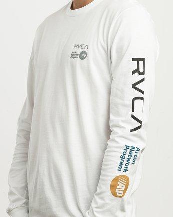 5 RVCA ANP Long Sleeve T-Shirt White M451SRRV RVCA