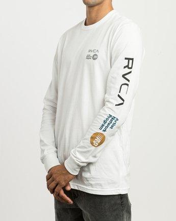 3 RVCA ANP Long Sleeve T-Shirt White M451SRRV RVCA