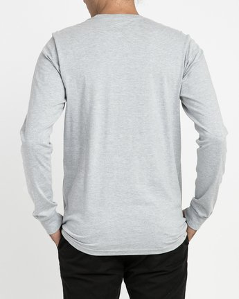 2 Big RVCA Long Sleeve T-Shirt Grey M451TRBI RVCA