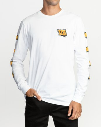1 Crawling Long Sleeve T-Shirt White M451TRCR RVCA