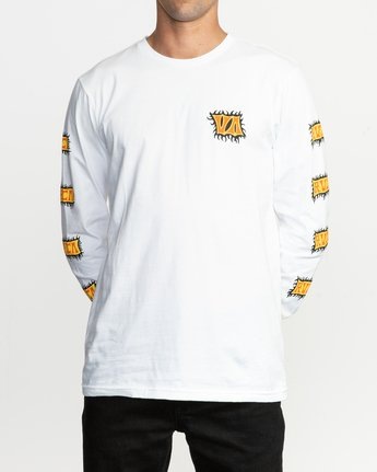 2 Crawling Long Sleeve T-Shirt White M451TRCR RVCA
