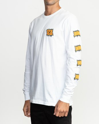 3 Crawling Long Sleeve T-Shirt White M451TRCR RVCA
