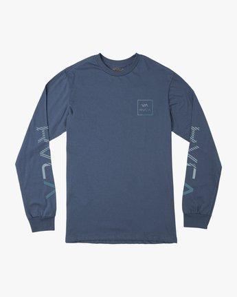 0 Segment Long Sleeve TEE Blue M451TRSE RVCA