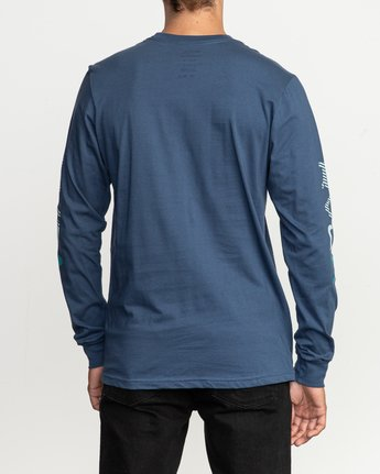 3 Segment Long Sleeve T-Shirt Blue M451TRSE RVCA