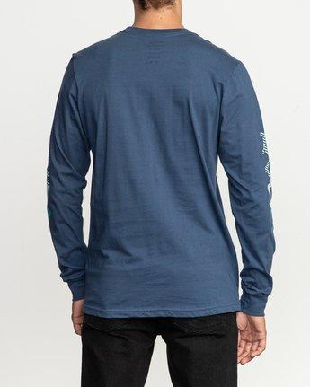 3 Segment Long Sleeve TEE Blue M451TRSE RVCA