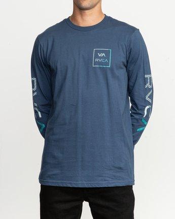 1 Segment Long Sleeve TEE Blue M451TRSE RVCA