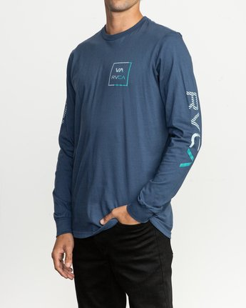 2 Segment Long Sleeve T-Shirt Blue M451TRSE RVCA