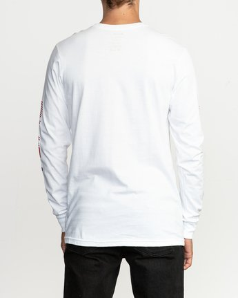 3 Segment Long Sleeve T-Shirt White M451TRSE RVCA