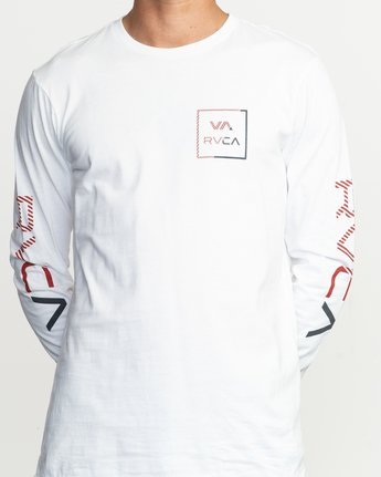 4 Segment Long Sleeve T-Shirt White M451TRSE RVCA