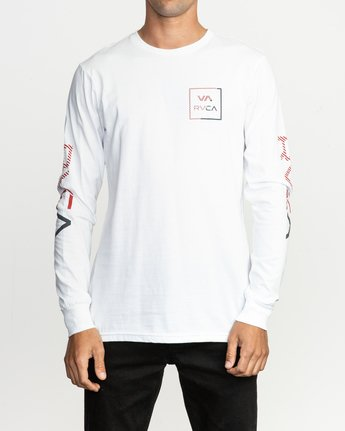 1 Segment Long Sleeve T-Shirt White M451TRSE RVCA