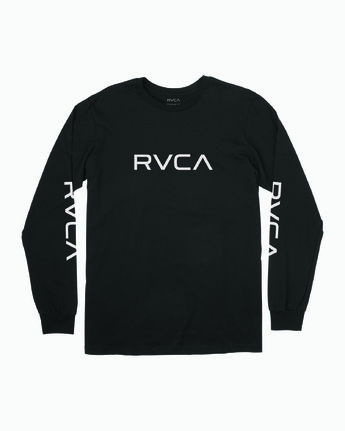 0 Big RVCA Long Sleeve T-Shirt Black M451URBI RVCA