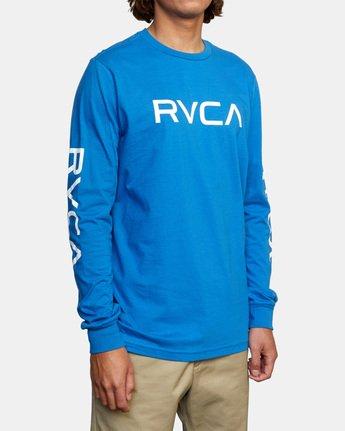 4 BIG RVCA LONG SLEEVE TEE Blue M451URBI RVCA
