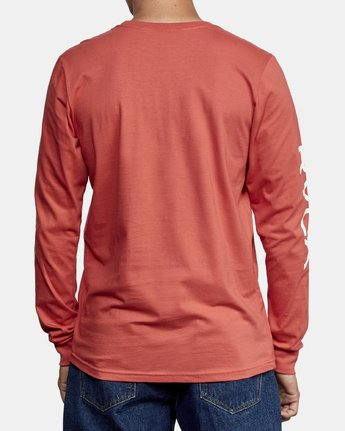 4 Big RVCA Long Sleeve T-Shirt Grey M451URBI RVCA