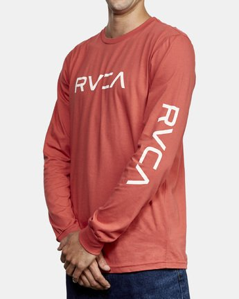 2 Big RVCA Long Sleeve T-Shirt Grey M451URBI RVCA