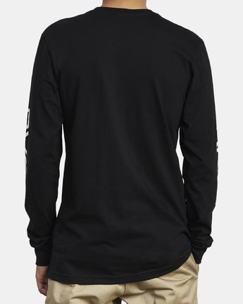 6 Big RVCA Long Sleeve T-Shirt Black M451URBI RVCA