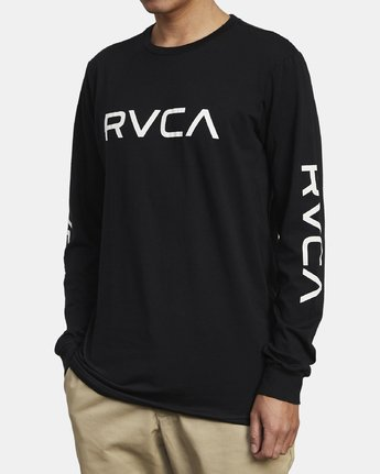 5 Big RVCA Long Sleeve T-Shirt Black M451URBI RVCA