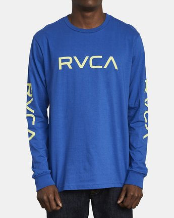 1 Big RVCA Long Sleeve T-Shirt Blue M451URBI RVCA