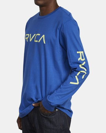 4 Big RVCA Long Sleeve T-Shirt Blue M451URBI RVCA