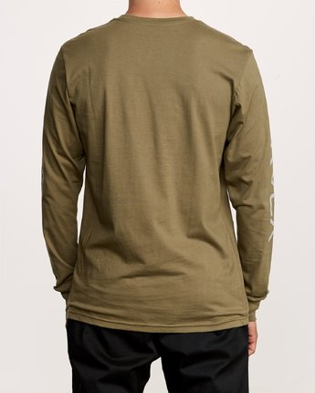 4 Big RVCA Long Sleeve T-Shirt Green M451URBI RVCA