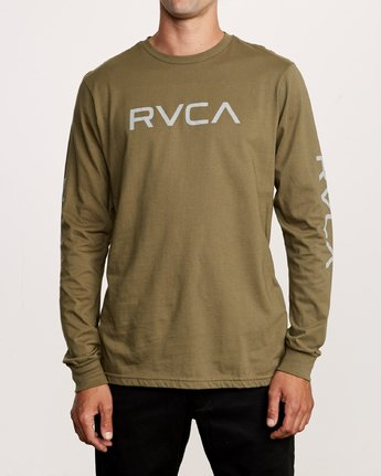 1 Big RVCA Long Sleeve T-Shirt Green M451URBI RVCA