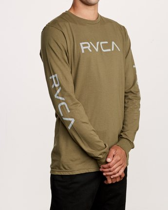 3 Big RVCA Long Sleeve T-Shirt Green M451URBI RVCA