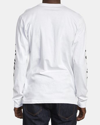 5 Big RVCA Long Sleeve T-Shirt White M451URBI RVCA