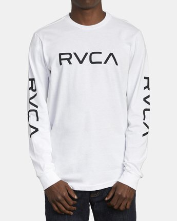 1 Big RVCA Long Sleeve T-Shirt White M451URBI RVCA