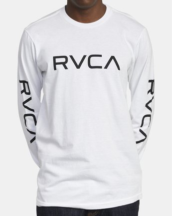 2 Big RVCA Long Sleeve T-Shirt White M451URBI RVCA