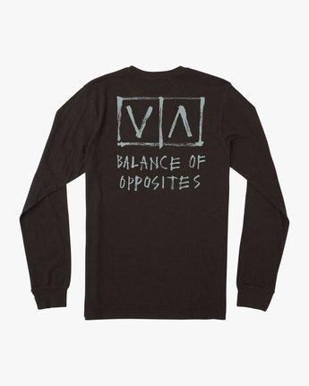 0 Ben Horton Box Long Sleeve T-Shirt Black M451URHO RVCA