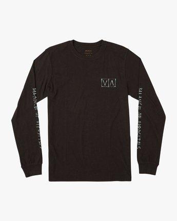 1 Ben Horton Box Long Sleeve T-Shirt Black M451URHO RVCA
