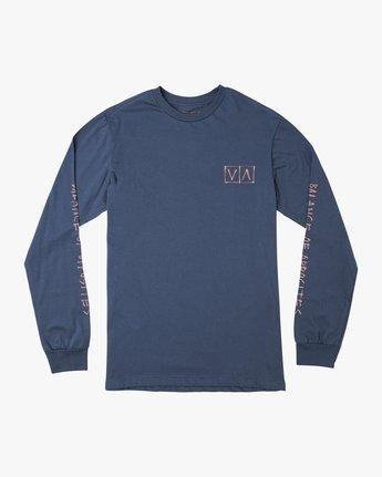 1 Ben Horton Box Long Sleeve T-Shirt Blue M451URHO RVCA