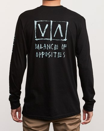 4 Ben Horton Box Long Sleeve T-Shirt Black M451URHO RVCA
