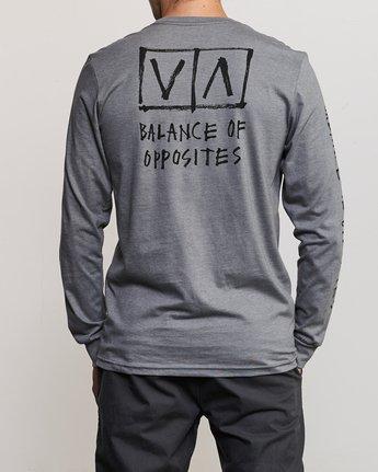5 Ben Horton Box Long Sleeve T-Shirt Grey M451URHO RVCA