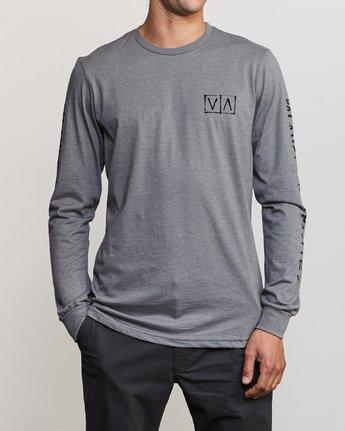 2 Ben Horton Box Long Sleeve T-Shirt Grey M451URHO RVCA