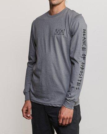 3 Ben Horton Box Long Sleeve T-Shirt Grey M451URHO RVCA