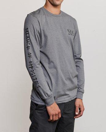 4 Ben Horton Box Long Sleeve T-Shirt Grey M451URHO RVCA
