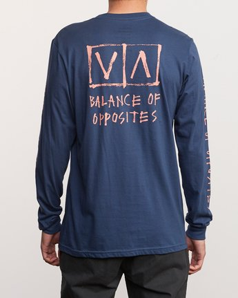 4 Ben Horton Box Long Sleeve T-Shirt Blue M451URHO RVCA