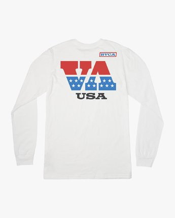 1 Indianapolis Long Sleeve T-Shirt White M451URIN RVCA