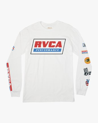 0 Indianapolis Long Sleeve T-Shirt White M451URIN RVCA